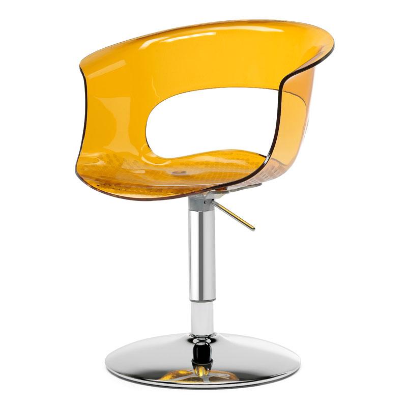 Poltroncina girevole Scab Design Miss B Up gialla, regolabile in altezza