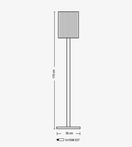 Lampada terra SAMBA doppio vetro colorato | E27 LED