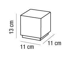 ENIGMA luce comodino cromo 13x11 | LED