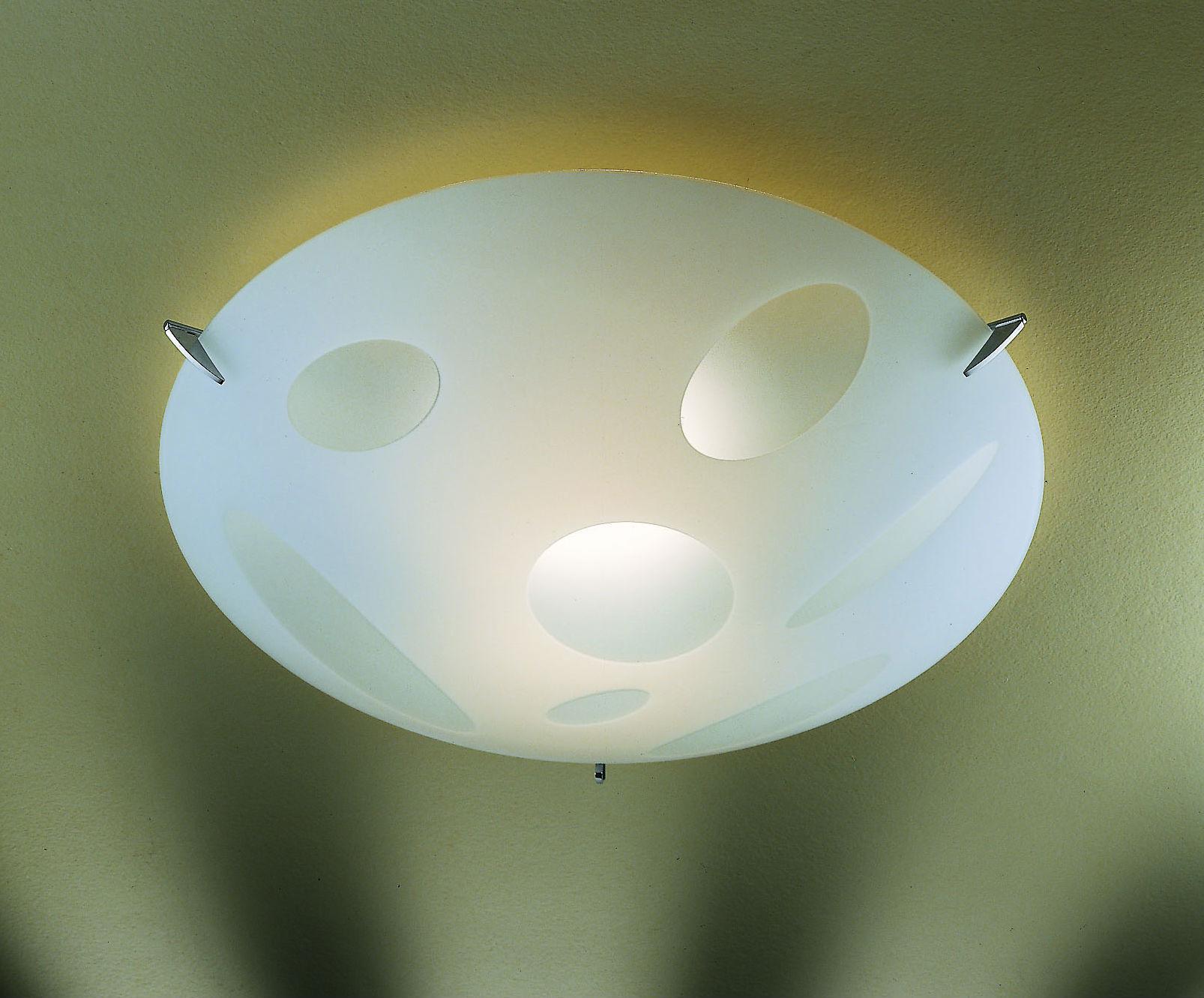 Plafoniera in vetro BOLLE 60 con E27 | LED