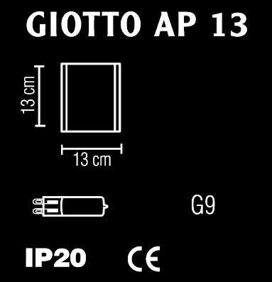 GIOTTO piccola applique 13x13 LED