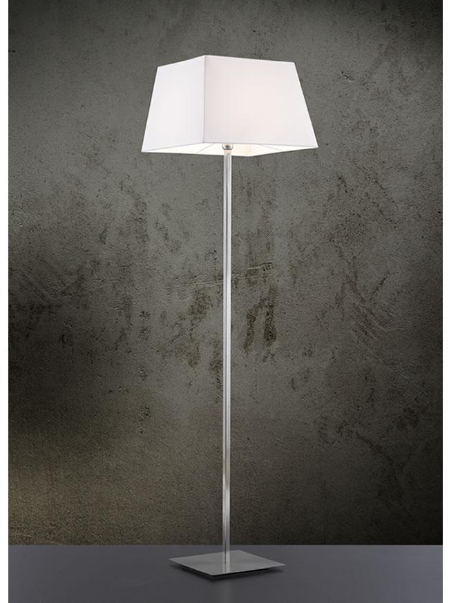 Lampada da terra TOSCA con paralume tessuto E27 | h 175cm