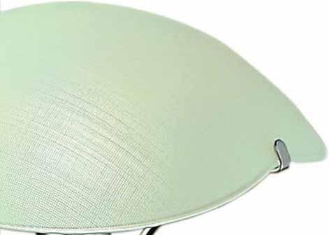 Lampada plafoniera TRIFOGLIO 32 e 52 in vetro bianco