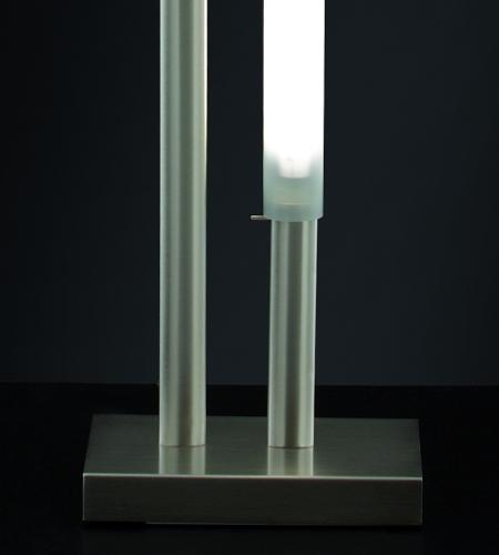 Lampada da terra moderna ZOE LED 24watt nichel spazzolato