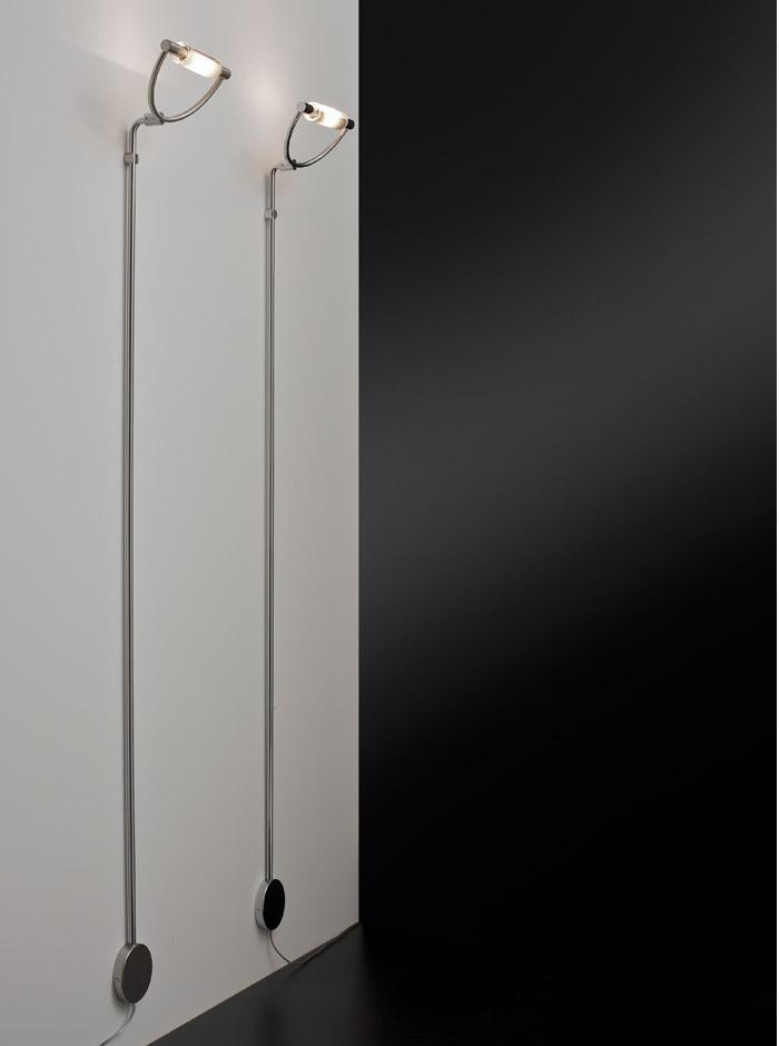 Lampada parete-terra cromonichel piantana design interni ...