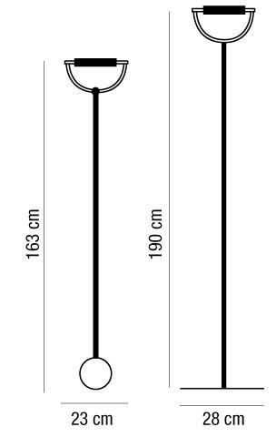 Lampada parete-terra ARCHETTO nichel R7s 120watt ES