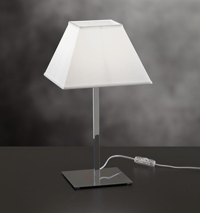 Lampada da tavolo TOSCA con paralume tessuto | E27 h 45cm