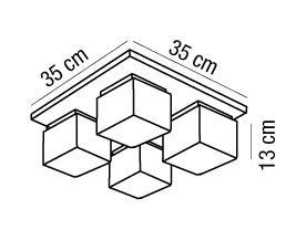ENIGMA plafoniera 4luci |LED