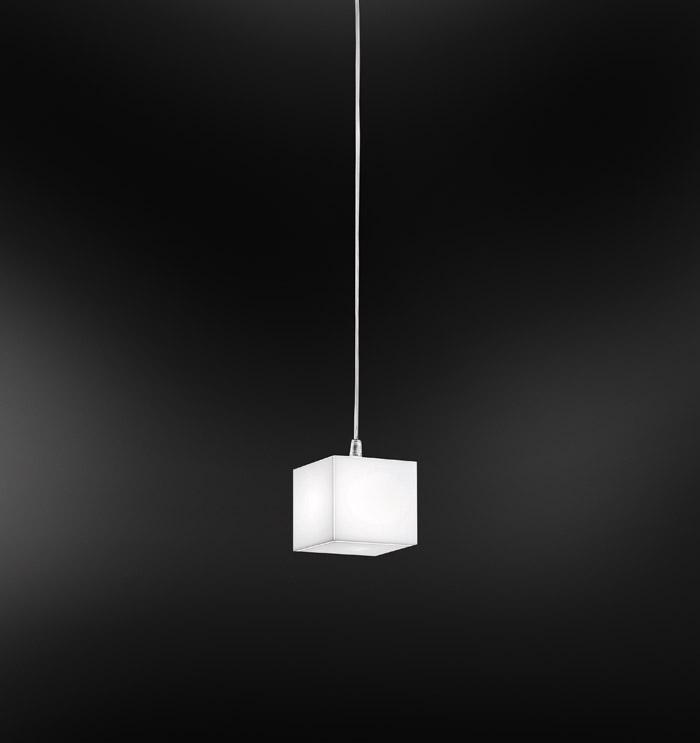 ENIGMA sospensione 11x11 cromo | LED