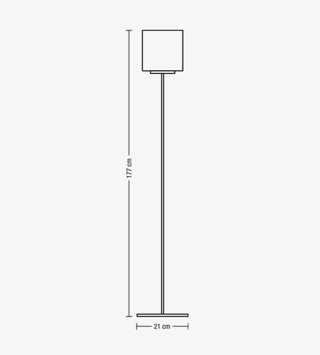 ENIGMA piantana cromo o grigia | LED