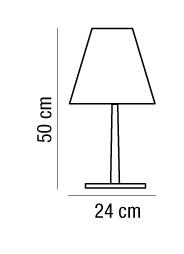 Lampada tavolo QUEEN in due misure H30 e H50 | LED