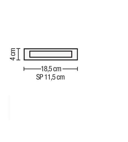 Lampada parete TOWN 2 LED cromo|10 watt R7s 18x4cm