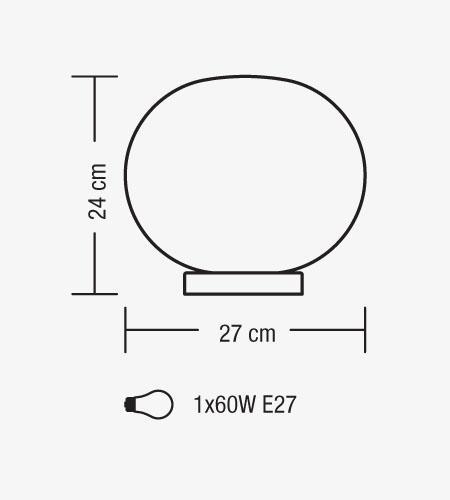 Lampada tavolo MAGIA vetro bianco latte E27 | LED