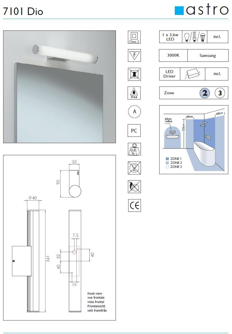 DIA LED applique bagno