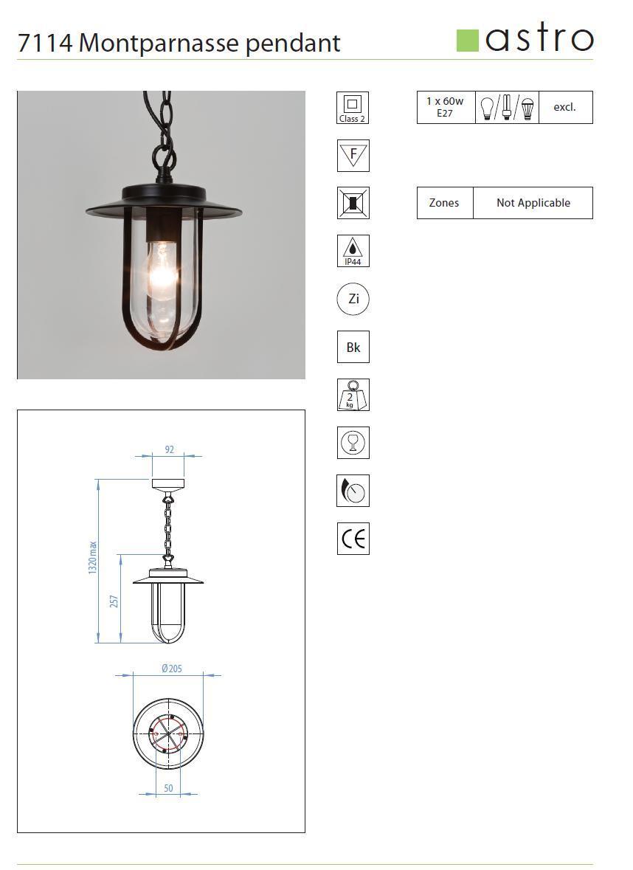 MONTPARNASSE lampada sospensione