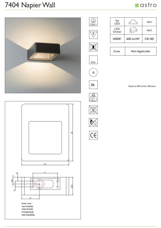 NAPIER LED applique esterni