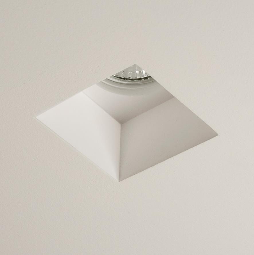 Faretto quadrato da incasso Blanco singolo in gesso