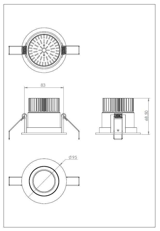 APRILIA ROUND LED orientabile