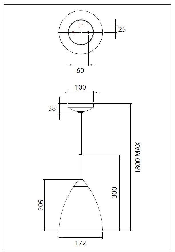 JOEL  lampada sospensione campana in metallo