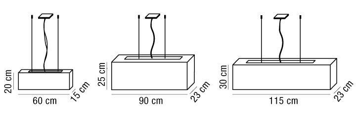 Lampada sospensione ALTEA con paralume in tessuto | E27