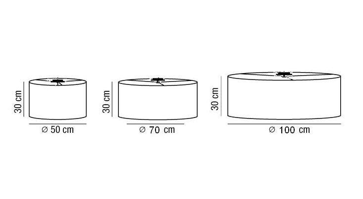 Lampada plafoniera ANITA con paralume tessuto |E27