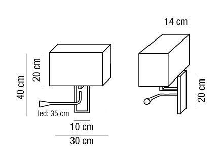 Applique ALTEA LED lampada parete testa-letto E27 | LED 1watt