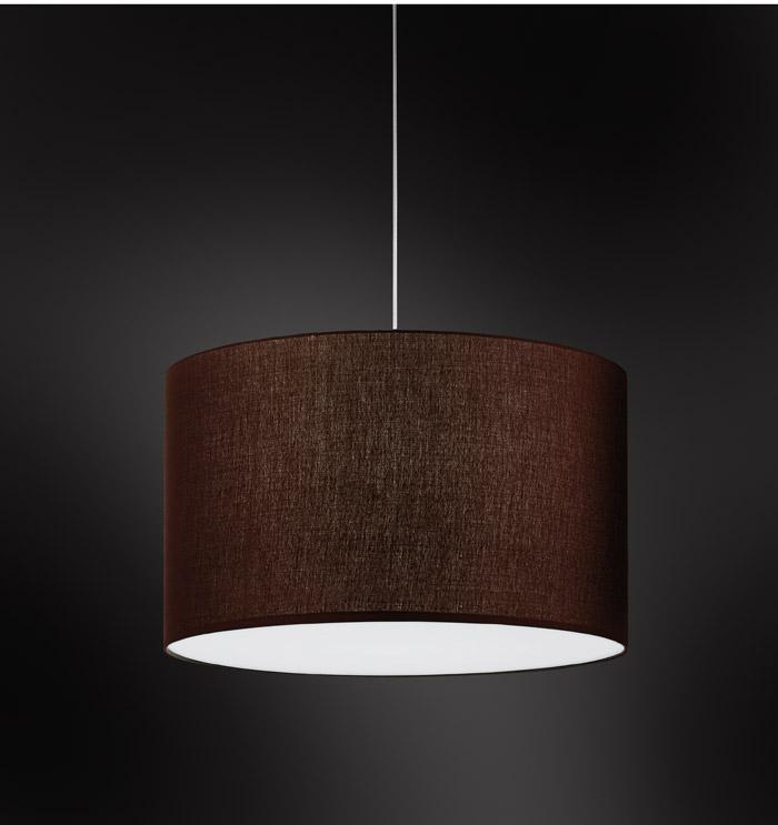 Lampada sospensione ANITA con paralume tessuto cilindrico | E27