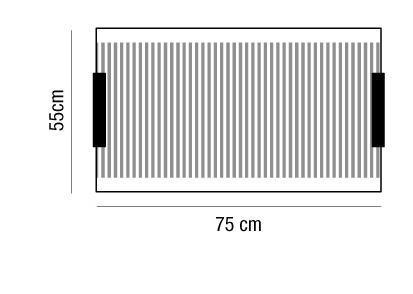Plafoniera rettangolare SAMBA LED 75 arancio,giallo,marrone,verde |4xE27