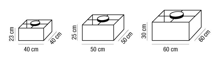 Plafoniera quadrata AMANDA paralume tessuto | E27