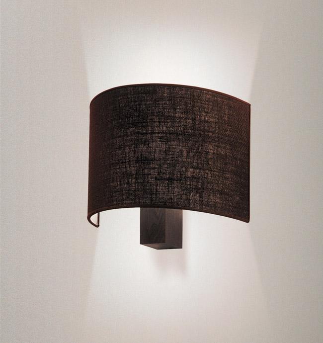 Applique con paralume iuta o cotone anita legno weng - Specchi ingranditori illuminati ...