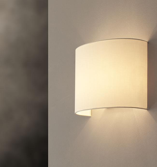 Applique in tessuto SARA | H25cm | portalampade E27 per LED
