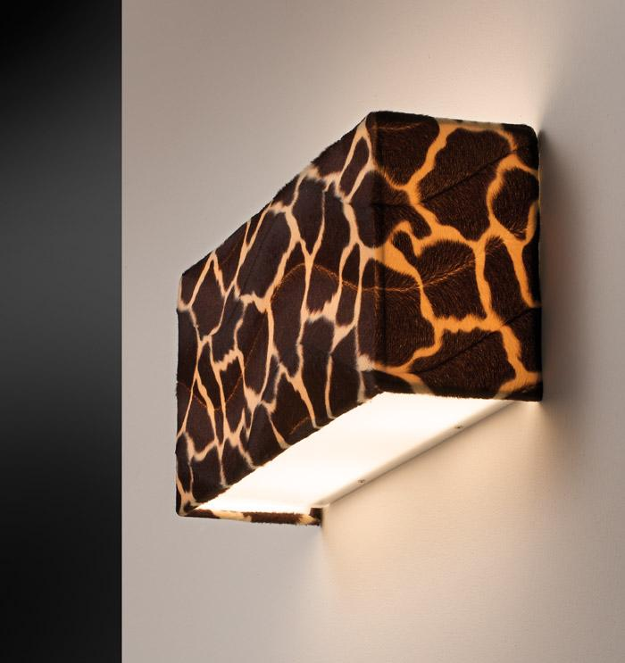ANIMALIER 40 applique con paralume in tessuto | LED