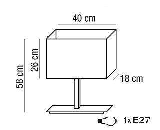 ANIMALIER lampada da tavolo con paralume in tessuto