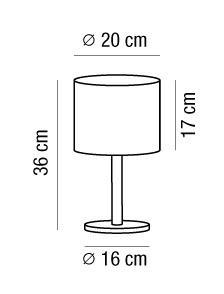 Lampada da comodino SARA con paralume tessuto | E14