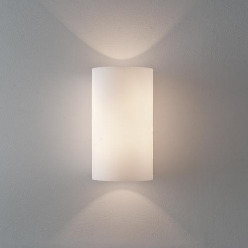 CYL 260 applique in vetro bianco