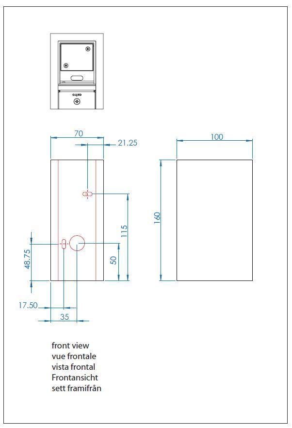 PARMA LED 160 applique in gesso verniciabile