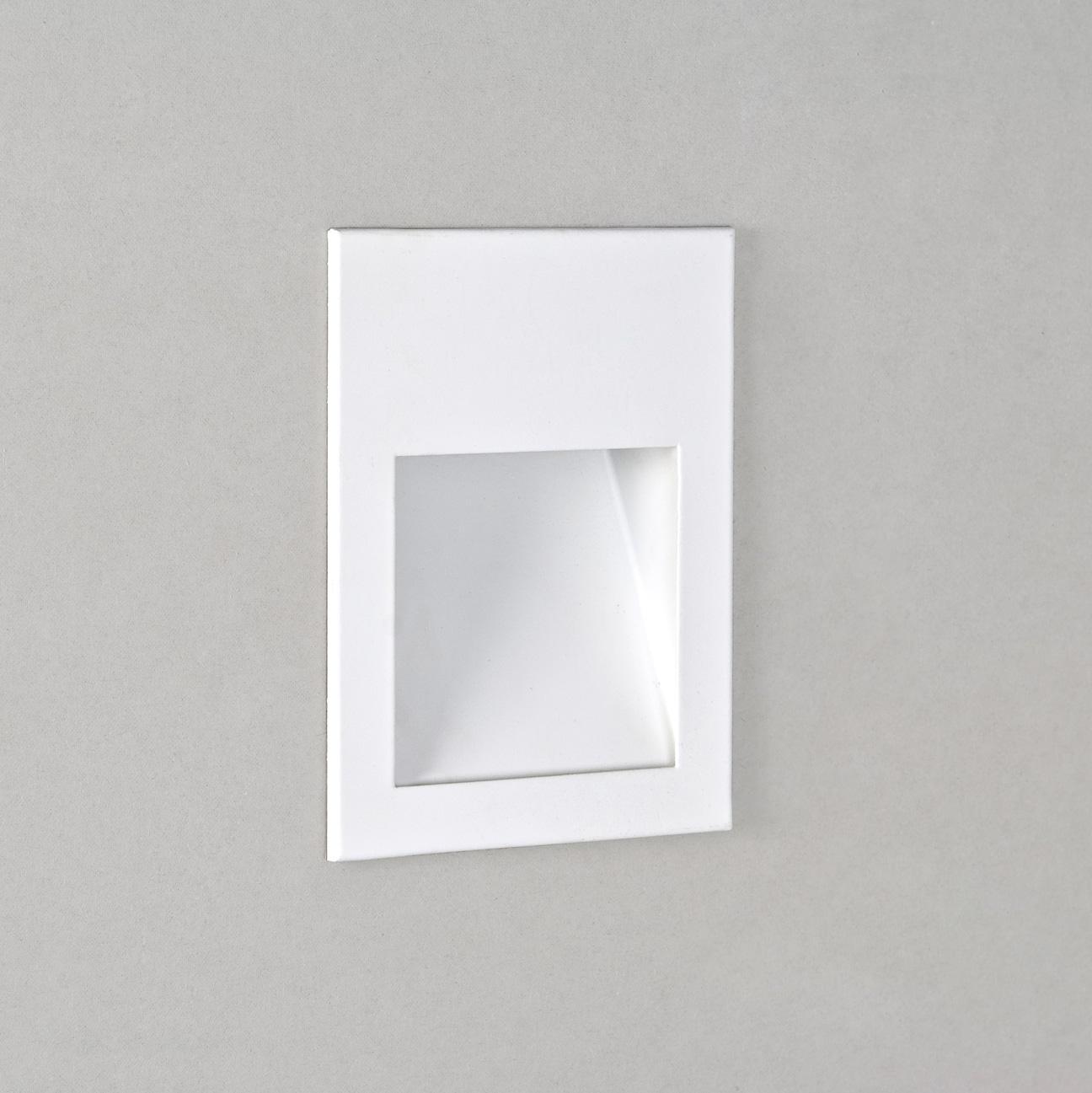 applique borgo led 90 lampada parete led da incasso bianco. Black Bedroom Furniture Sets. Home Design Ideas