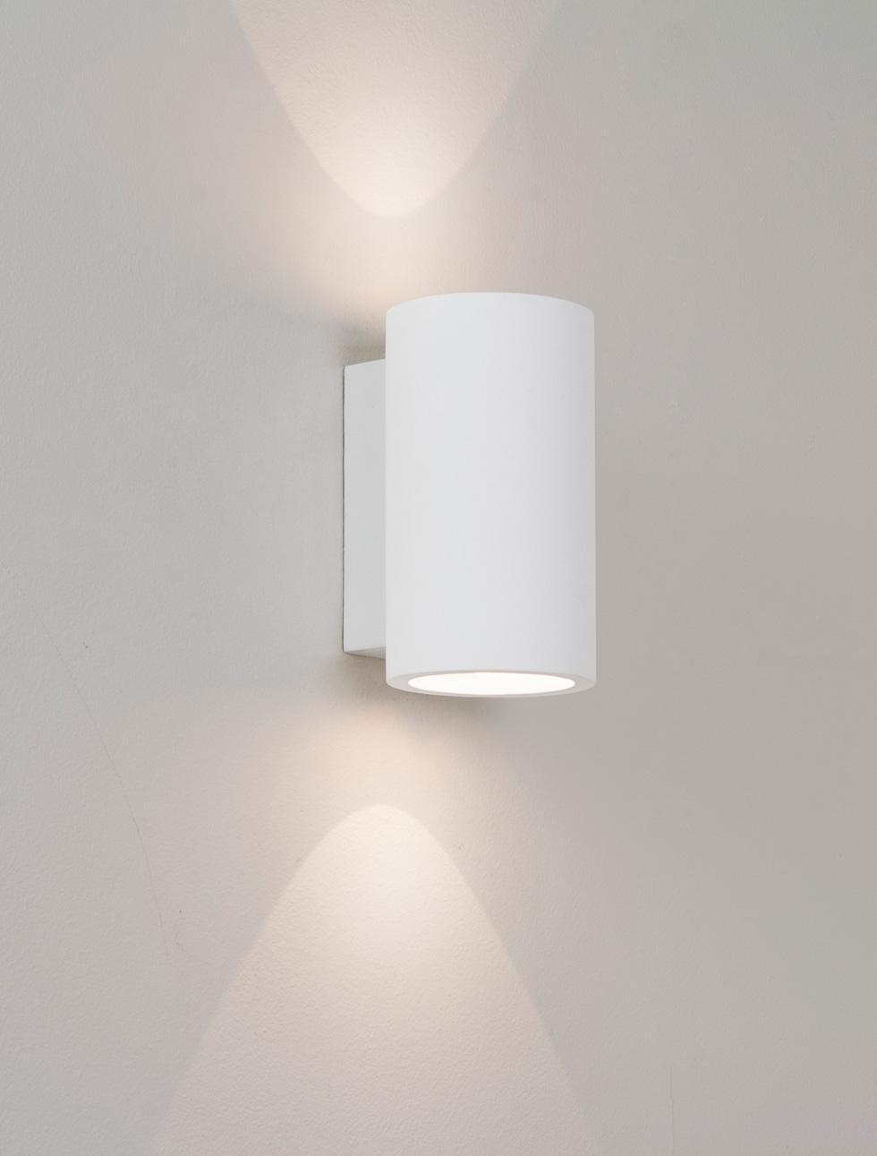 Applique bologna led 160 lampada da parete in gesso - Applique in gesso da parete ...
