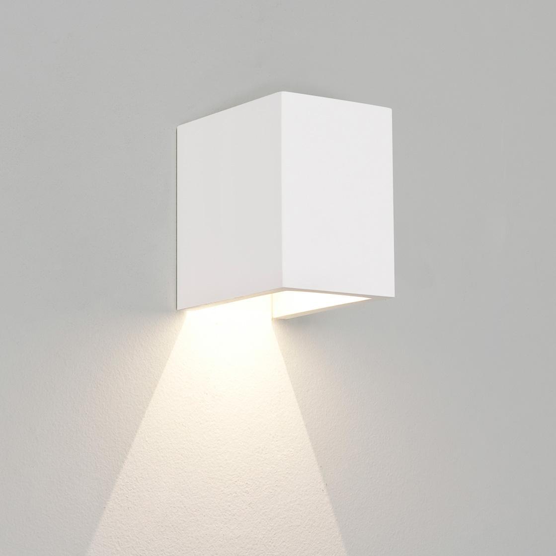 PARMA 100 LED applique in gesso