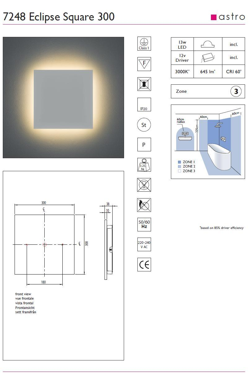 ECLIPSE 300 LED applique verniciabile