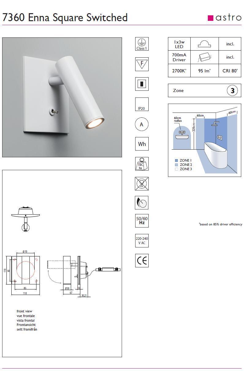 ENNA LED applique da lettura bianco