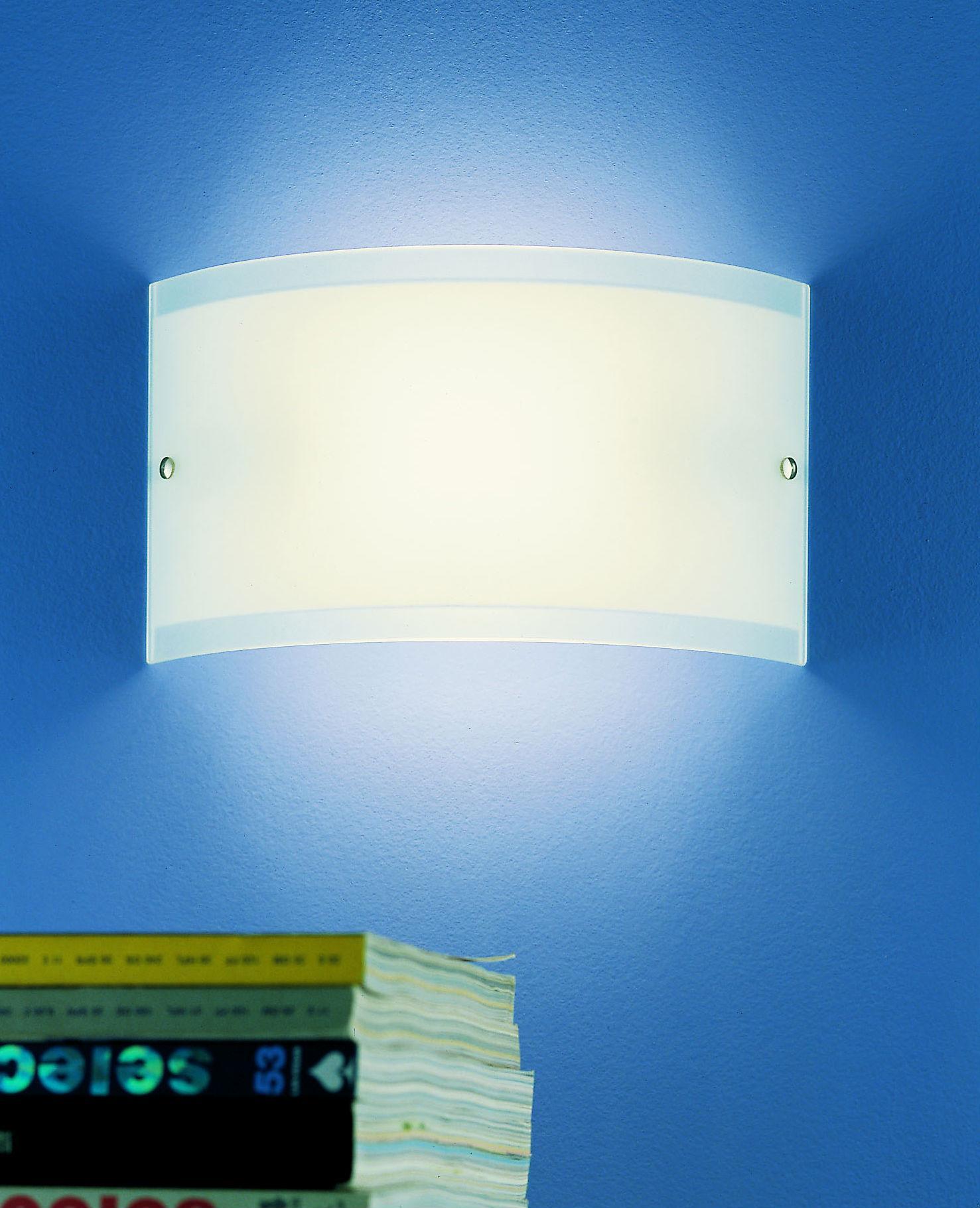 GALA 14 applique per interni in vetro bianco