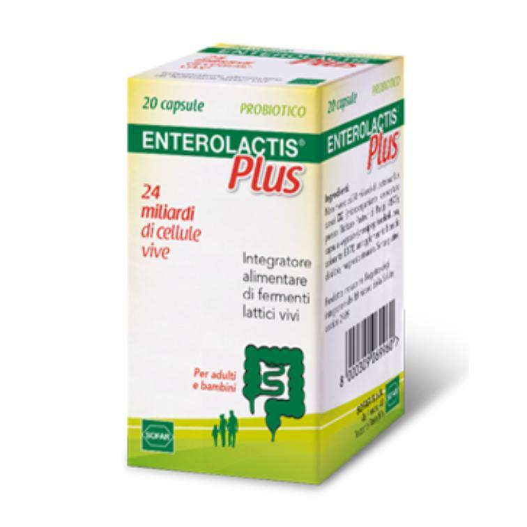 ENTEROLACTIS PLUS - INTEGRATORE A BASE DI FERMENTI LATTICI VIVI