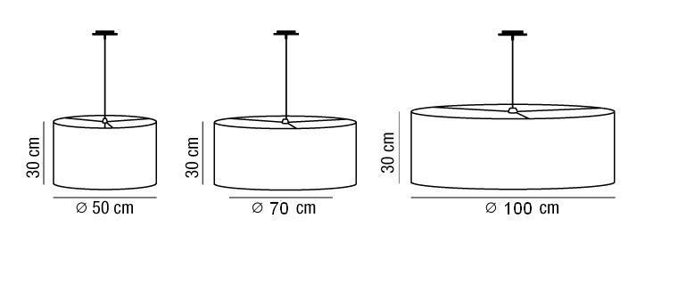 Lampadario SARA con paralume in tessuto  |E27 anche per LED