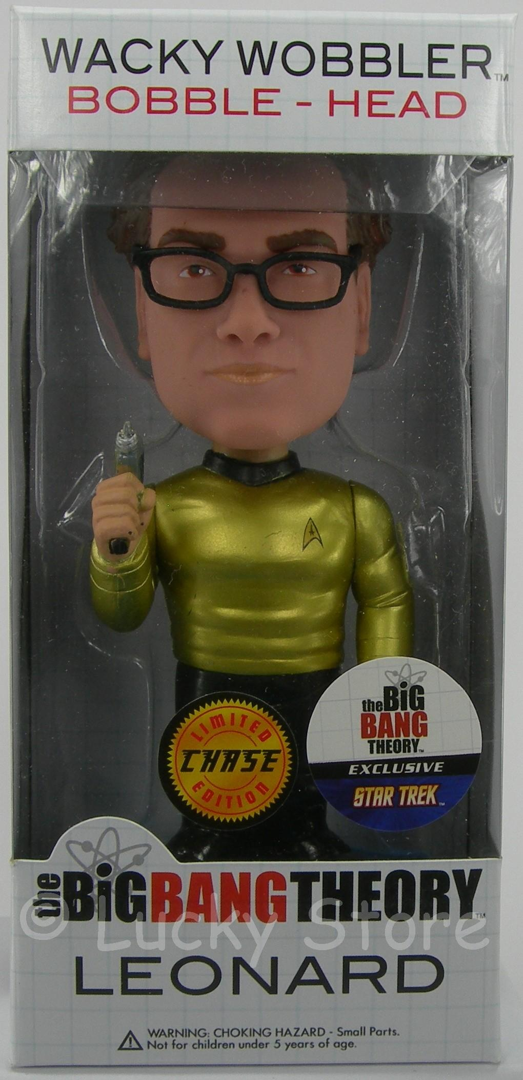 Big Bang Theory RARO Leonard Star Trek metallic bobble head figure 18 cm Funko