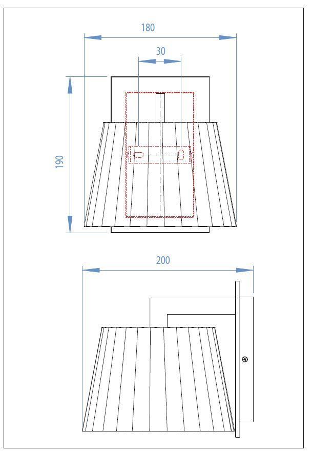 NOLA applique legno con paralume