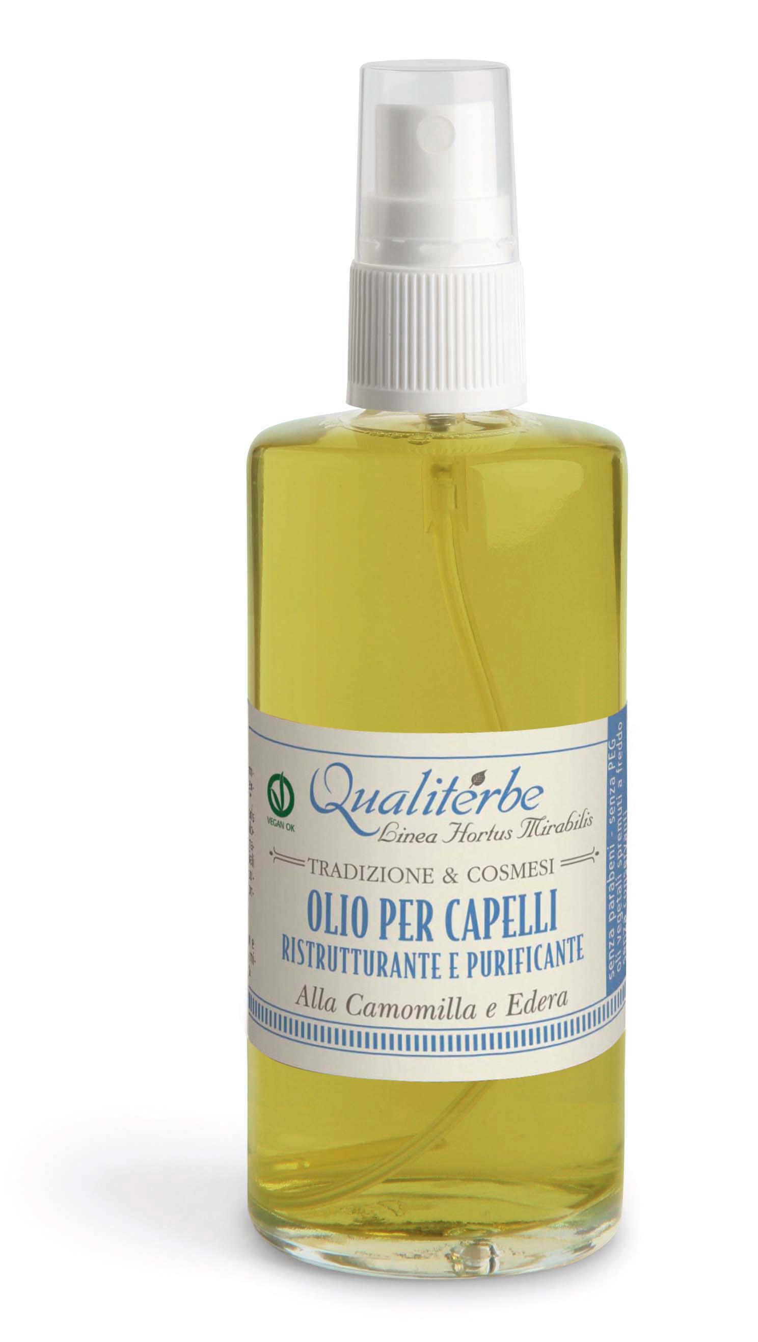 Olio per capelli ristrutturante e purificante alla Camomilla ed Edera a93948aa98e0