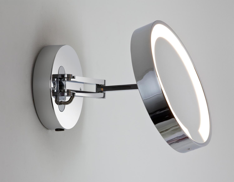 Specchio ingranditore da bagno cromato catena - Specchio ingranditore da bagno ...