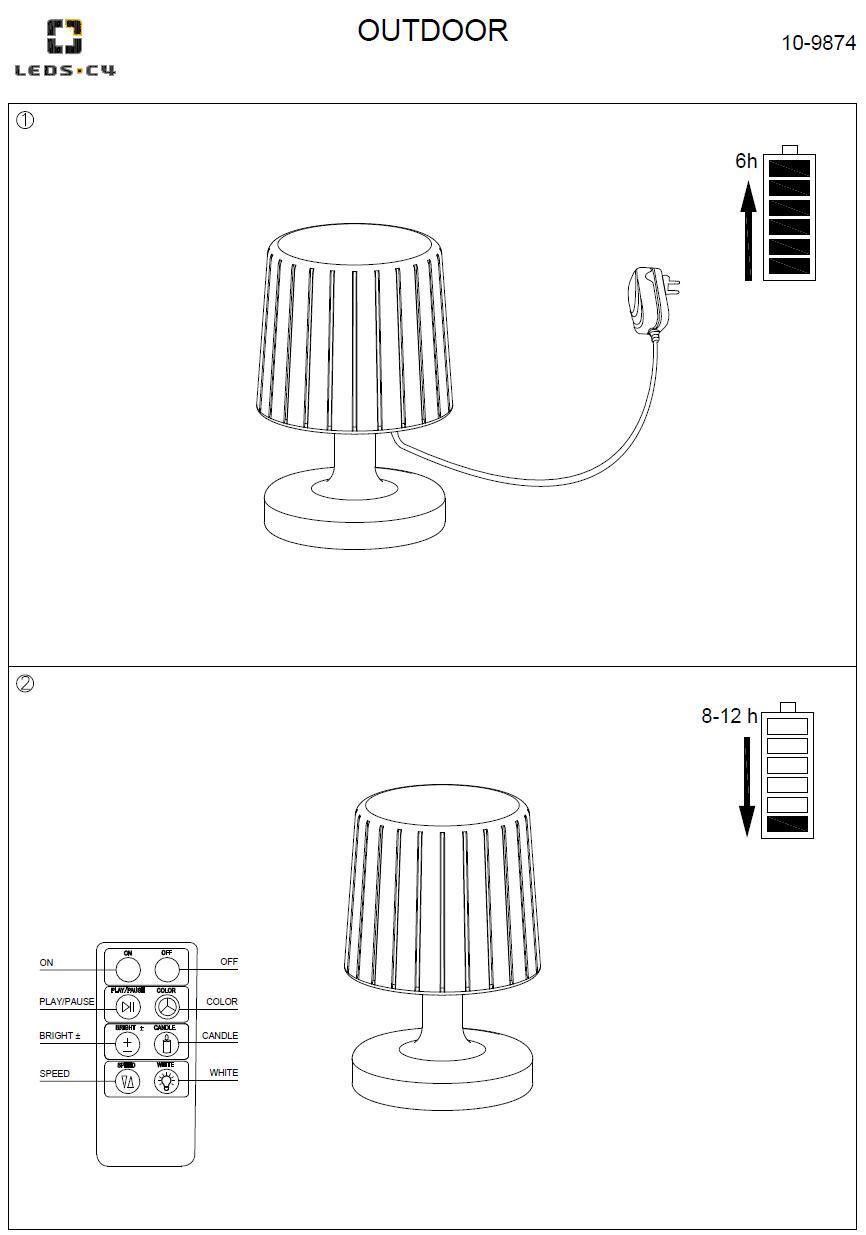 MOONLIGHT LED lampada da tavolo per esterni
