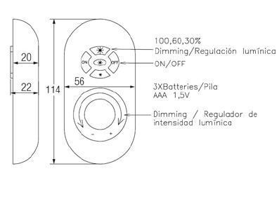 Comando remoto per lampadario LED
